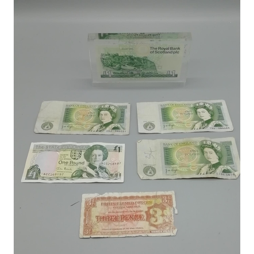 6 - Selection of Paper Currency including Note Desk Weight...