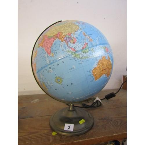 2 - TERRESTRIAL,  table top globe lamp...