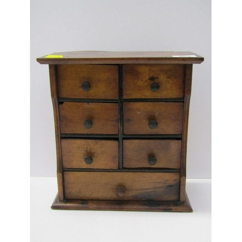 162 - APPRENTICE PIECE, a provincial table top chest of 7 drawers, 9