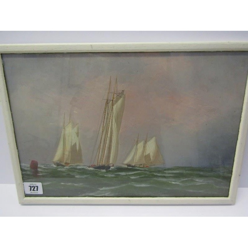 727 - ANTONIO JACOBSEN, signed painting dated 1875