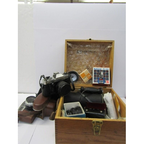 51 - YASHICA MINISTER CAMERA and Electro AX camera with accessories...