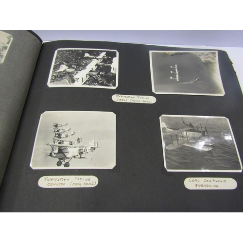 196 - NAVAL PHOTO ALBUM, HMS Hermes 1934/7 personal photo album of T Beard...