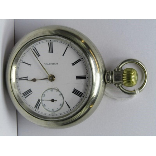 419 - WALTHAM GENTLEMANS POCKET WATCH; 1907 lever set with screw front in untested condition, comes with t...
