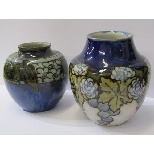 106 - DOULTON ART POTTERY, 2 blue ground stoneware