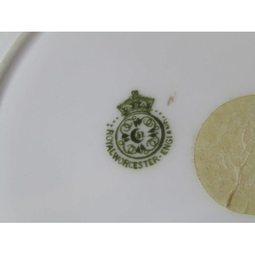 23 - ROYAL WORCESTER set of 6 gilded butterfly design tea plates...