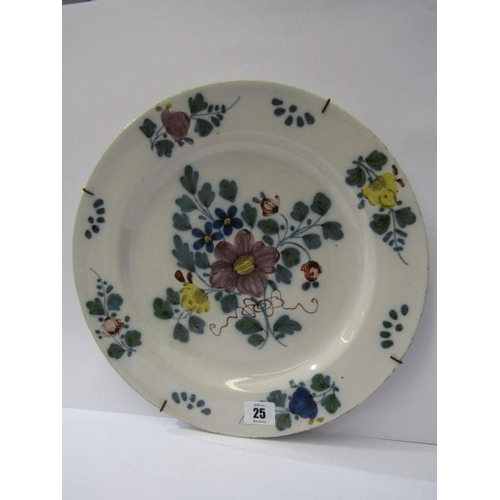 25 - EARLY DELFT, floral decorated 13
