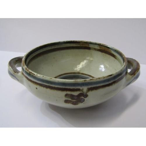 28 - CARDEW POTTERY, Michael Cardew twin handled stem bowl, also Seth Cardew small twin handled bowl and ...