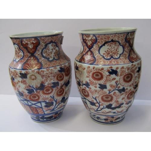 5 - ORIENTAL CERAMICS, pair of Imari tapered rim 9.5