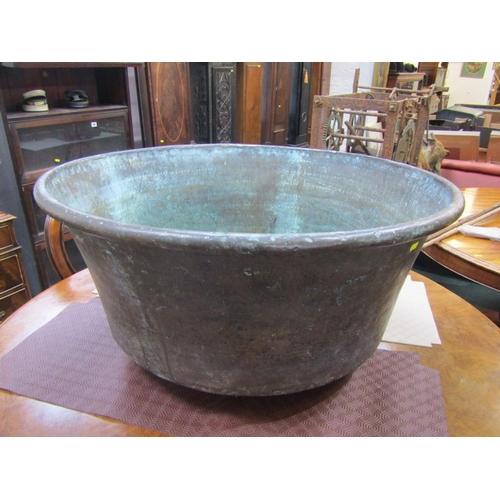 144 - ANTIQUE COPPER PAN, large 30