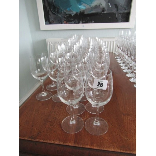 26 - WINE GLASSES, approximately 44 assorted wines...