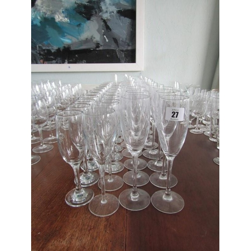 27 - GLASSES, in excess of 50 flutes...