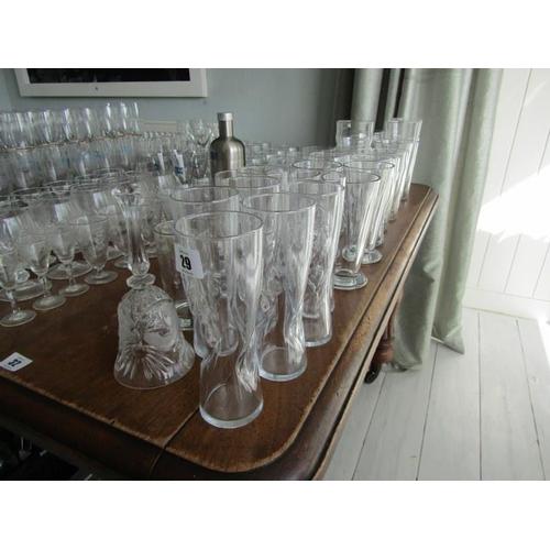 29 - ASSORTED GLASSES, pints & half pint sleeves...