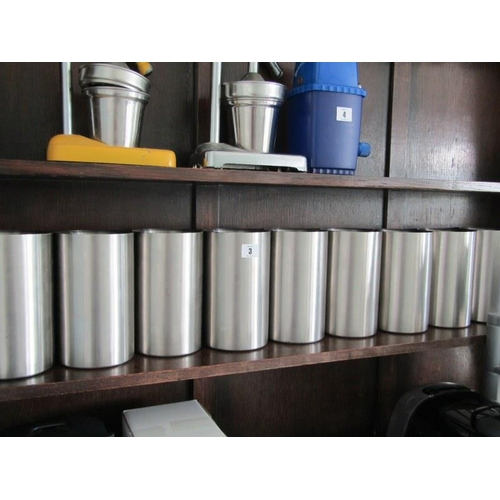3 - 10 STAINLESS WINE BUCKETS...