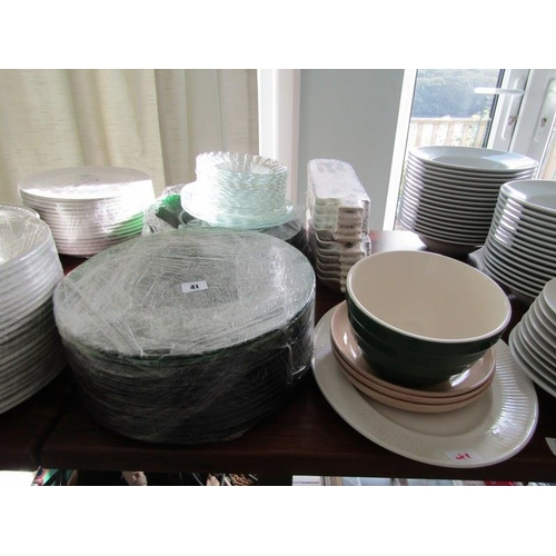 41 - TABLEWARE, A selection of 13
