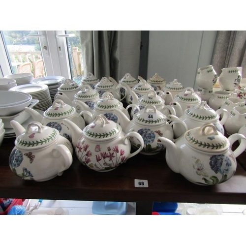44 - PORTMEIRION, Portmeirion tea pots, 17 assorted Portmeirion tea pots (some with chipped spouts)...