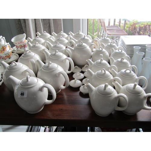 46 - TABLEWARE, 25 Assorted cream tea pots...
