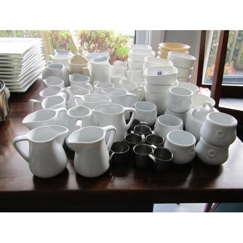 48 - JUGS, Assorted milk and cream jugs...