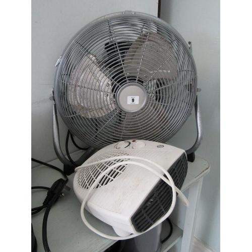 9 - TABLE TOP FAN, also a fan heater...