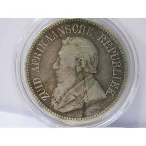 24 - 1892 SOUTH AFRICA SILVER HALF CROWN, BOER WAR...