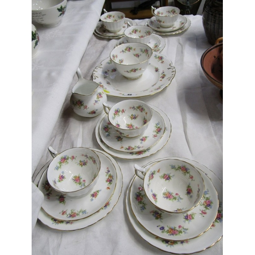 46 - NEW CHELSEA, floral and gilt decorated teaware...