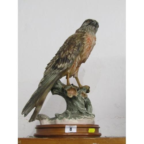 8 - CAPO DI MONTE, signed Bird figure...
