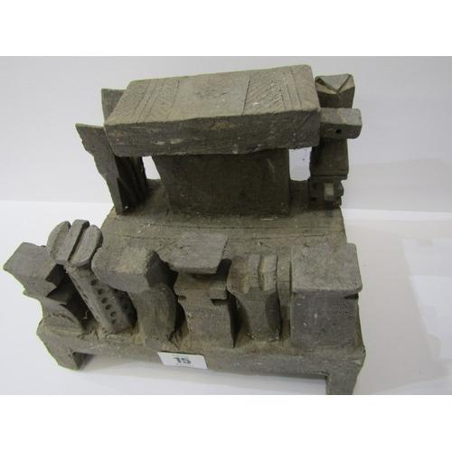 15 - STUDIO POTTERY, Ian Godfrey stoneware altar, 8.5