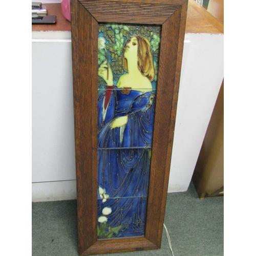 42 - ART NOUVEAU, a tiled picture panel