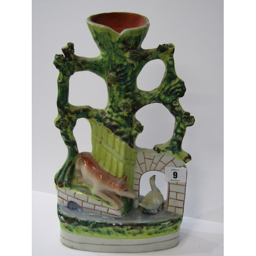 9 - STAFFORDSHIRE POTTERY, 19th Century vase group