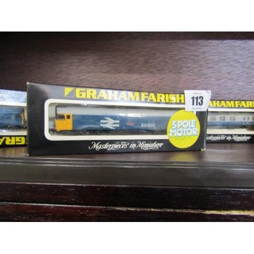 113 - GRAHAM FARISH N gauge locomotives, 8305 BR Class 25 diesel engine boxed, No 8404 BR Class 50 diesel ...