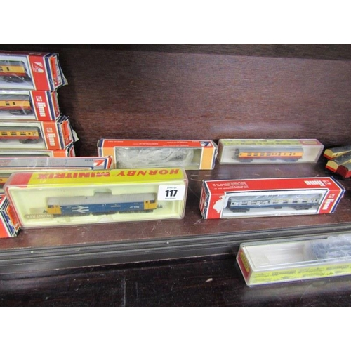 117 - MODEL RAILWAY, a collection of N gauge model railway, mainly by Lima, some in original boxes...