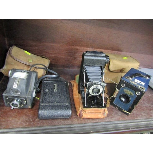 118 - PHOTOGRAPHY, King Penguin Kershaw Eight - 20 folding camera, also Houghton-Butcher