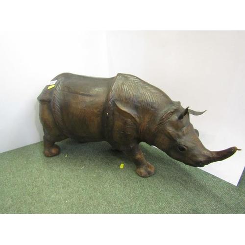 197 - RHINOCEROS, leather model of Rhinoceros, 26