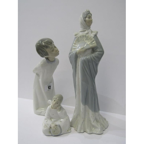 12 - NAO, figure of Boy in nightgown and 2 similar figures...