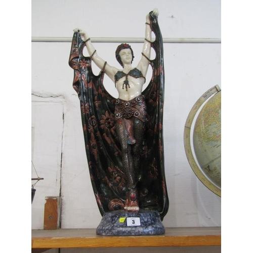 3 - ART DECO DESIGN, a replica figure of exotic dancer...