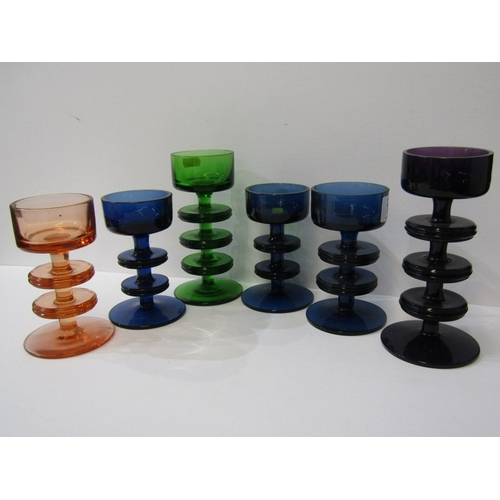 11 - RETRO GLASS, a collection of 6 Wedgwood candlesticks...