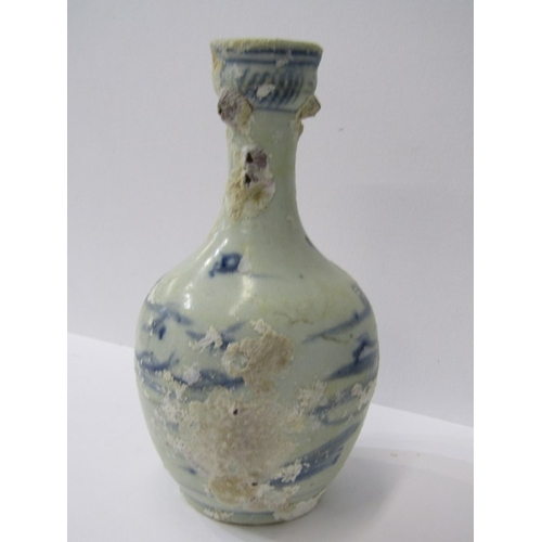 13 - ORIENTAL CERAMICS, Shipwreck Salvage porcellaneous under-glaze blue, 8.5