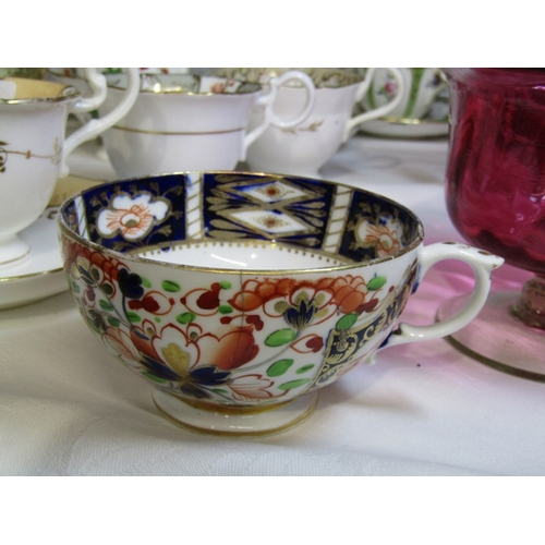 20 - 19TH CENTURY TEAWARE, a good collection of English porcelain teaware including, Copeland and Garrett...