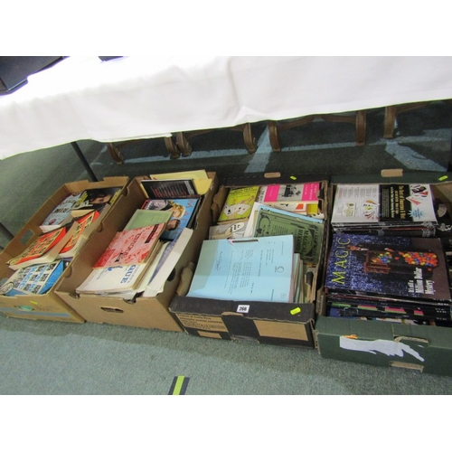 266 - MAGIC, 4 boxes of reference books & magazine relating to The Magic Arts...
