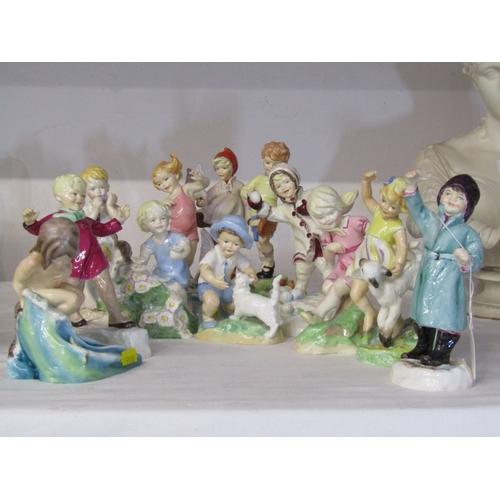 3 - ROYAL WORCESTER FIGURES, set of 12 child figures