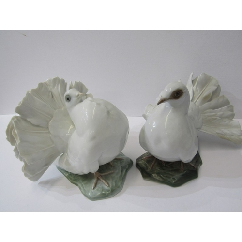 32 - ROSENTHAL, two dove figures model no's. 1500 & 1589...
