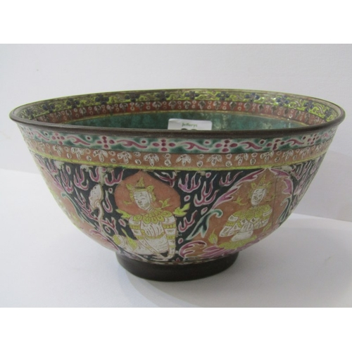 38 - ORIENTAL CERAMICS, brass mounted 7