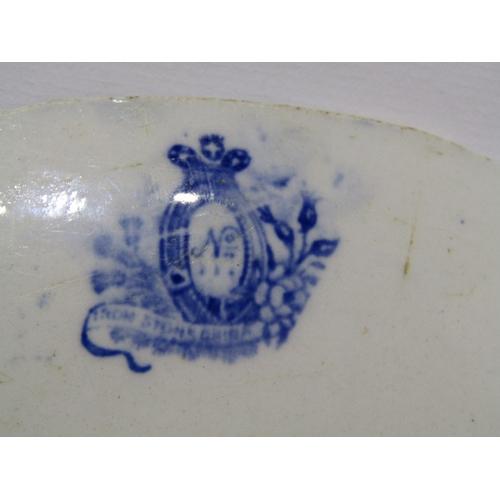 42 - MARITIME,  porcelain punch bowl with sailing ship portrait, 11