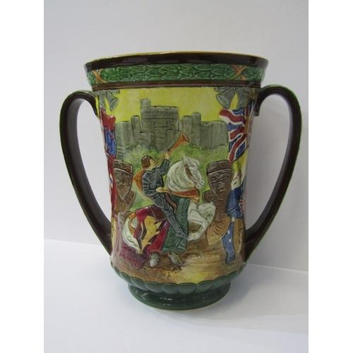 43 - DOULTON COMMEMORATIVE, Limited Edition George V Coronation twin handled vase, 10