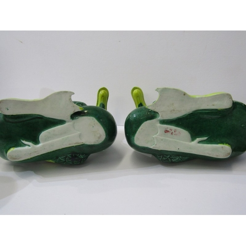 5 - ORIENTAL CERAMICS, pair of Chinese green glazed ducks, 7
