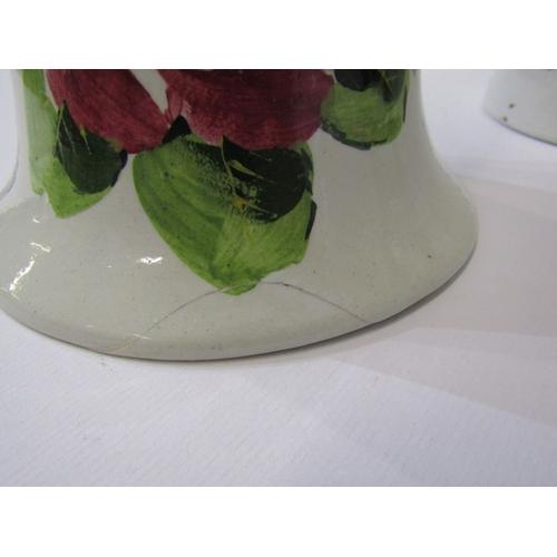 6 - WEMYSS, pair of rose decorated 10