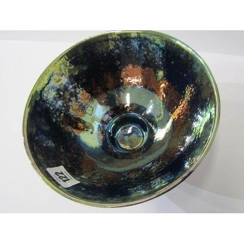 122 - STUDIO POTTERY, Sutton Palmer blue lustre conical 8