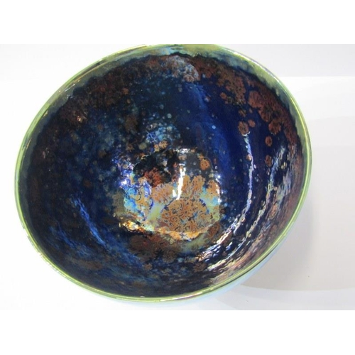 125 - STUDIO POTTERY, Sutton Taylor blue lustre deep centre 6.75