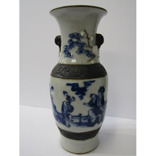 131 - ORIENTAL CERAMICS, 19th Century Chinese crackle glaze splayed rim, 9.5