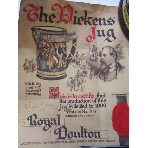 133 - ROYAL DOULTON LIMITED EDITION JUG,