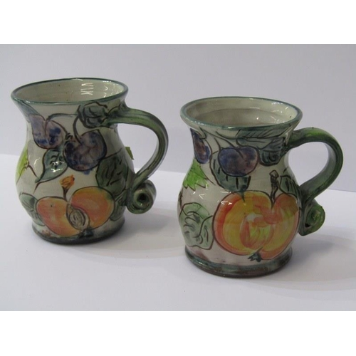 21 - STUDIO POTTERY, 2 Paul Jackson grape and fruit decorated 4